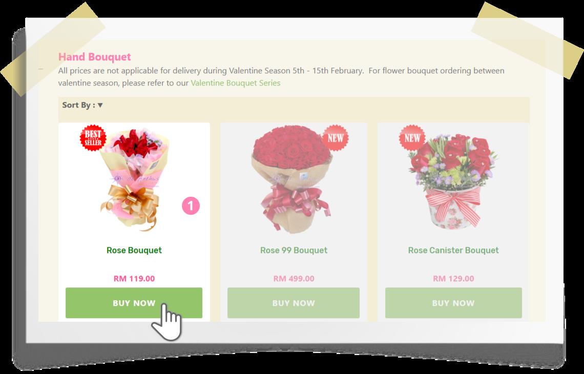 Online ordering step by step - step 1