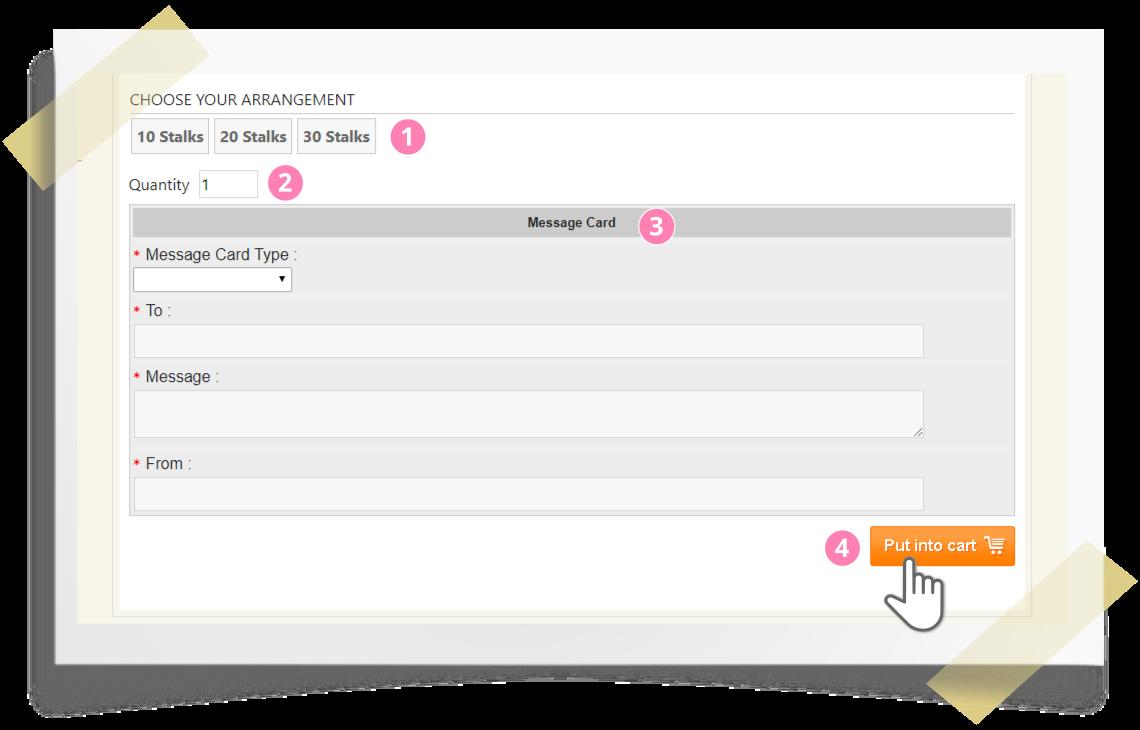 Online ordering step by step - step 2