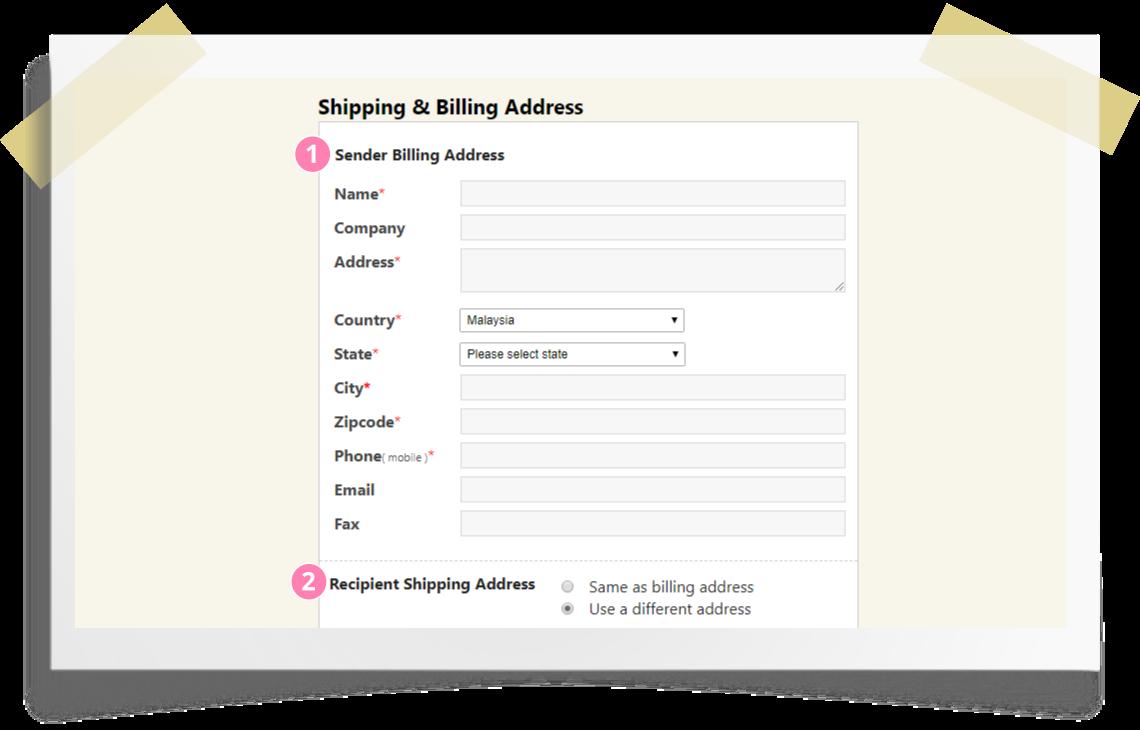 Online ordering step by step - step 5