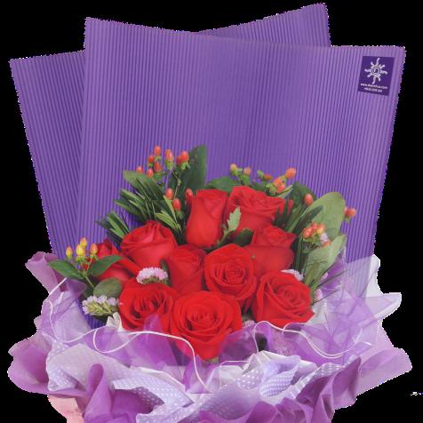 Rose bouquet by De Anthus Florist