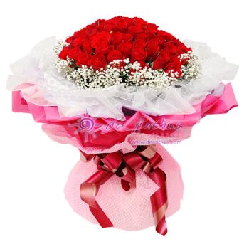 99 Roses Flower Bouquet
