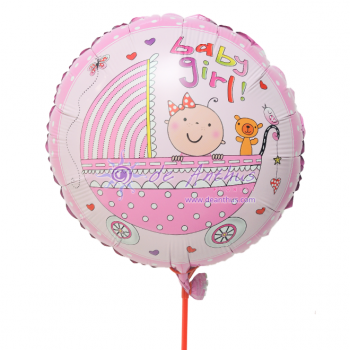 "Add On - 18"" Baby Girl Foil Balloon"
