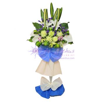 Cheras Funeral Condolence Wreath Flowers