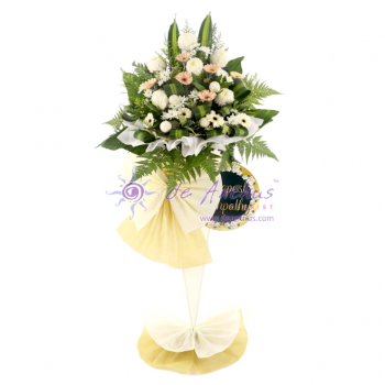 Sympathy Wreath Flower Stand