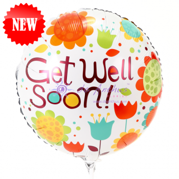 "Add On - 18"" Get Well Soon Foil Balloon"