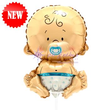 """Add On - 12"""" Baby Boy Foil Balloon"""