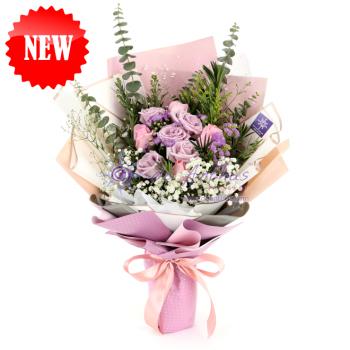 Pink & Purple Rose Bouquet