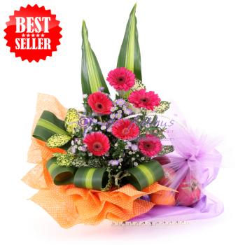 Columbia Flower & Fruits Basket