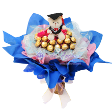 Flower & Chocolate Graduation Bouquet