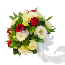 Eustoma & Rose Bridal Bouquet