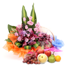 Flowers & Fruits Basket