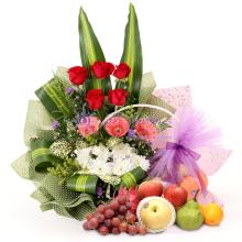 SJMC Flower & Fruit Basket