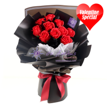 Valentine Everlasting Soap Roses Bouquet