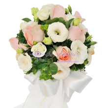PJ Rose & Eustoma Bridal Bouquet
