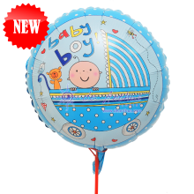 "Add On - 18"" Baby Boy Foil Balloon"