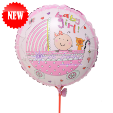 "Add On - 18"" Baby Girl Foil Balloon"