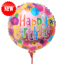 "Add On - 18"" Happy Birthday Foil Balloon"