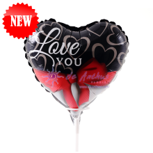 """Add On - 9"""" Love You Foil Balloon"""