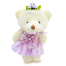 "Add On - 4"" My Angel Bear Purple"