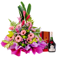 Flower Basket With DOM Benedictine