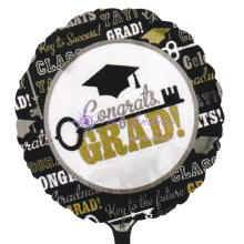 "Add On - 18"" Congrats Grad Foil Balloon"