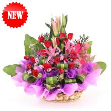 Rose & Lily Flower Basket
