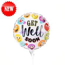 "Add On - 9"" Get Well Soon Foil Balloon"