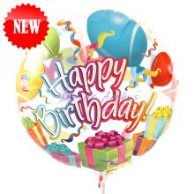 "Add On - 18"" Happy Birthday Transparent Balloon"