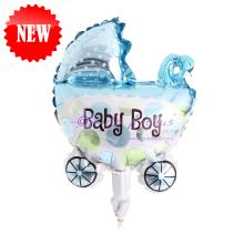 """Add On - 10"""" Baby Boy Stroller Foil Balloon"""