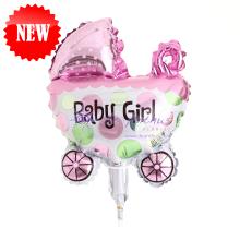"Add On - 10"" Baby Girl Stroller Foil Balloon"