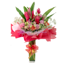 Clear Vase Flower Bouquet