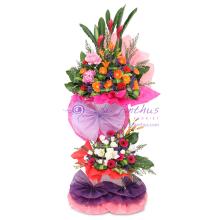 Grand Opening Flowers - 2 Tiers Arrangement
