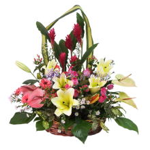 Deluxe Large Flowers Basket