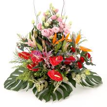 Deluxe Flowers Basket