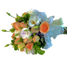 Rose & Eustoma Bridal Bouquet