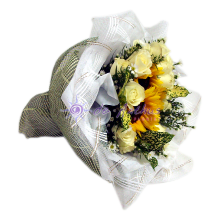 Sunflower & Rose Bridal Bouquet