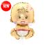 "Add On - 12"" Baby Girl Foil Balloon"